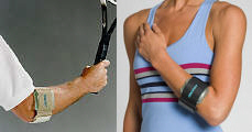 Pneumatic armband by aircast for epicondylitis