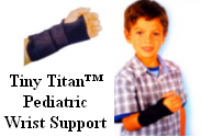 Tiny Titan Pediatric Wrist Support by Hely Weber.